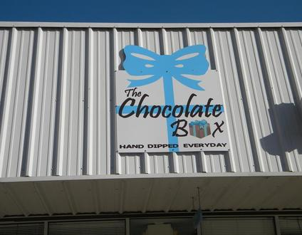 The Chocolate Box Conyers Buiding Sign